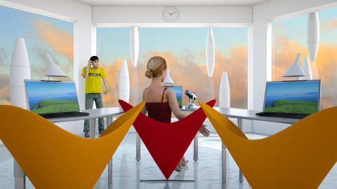 Calling Major Tom - Modern - Office  - by russ