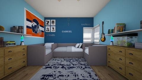 Triplets - Bedroom  - by SammyJPili