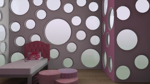 pink circles for a lil pricnces - Glamour - Bedroom  - by Lizette Najera