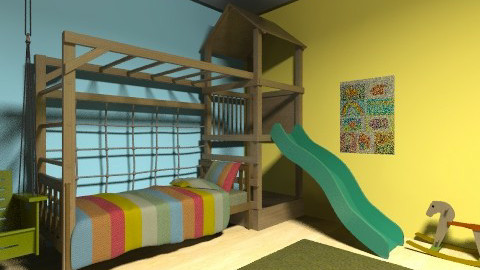 Child Sporty Bedroom - Modern - Kids room - by mpy1999