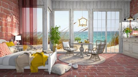 wild beach cabin - Vintage - Bedroom  - by MonicaMV