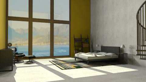 yellow city big W - Minimal - Bedroom  - by benss