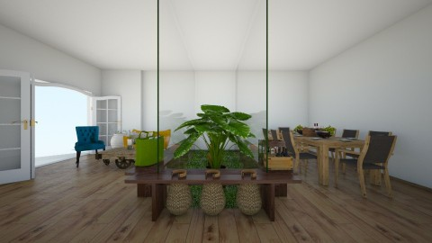 forest home - Living room - by rafita