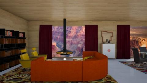 midcentmod - Living room - by rosej