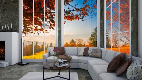 Autumn abode - Living room  - by Shan da farm freak