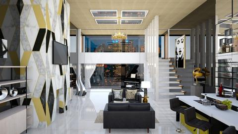 Black in the City - Modern - Living room  - by fashiondesigner7