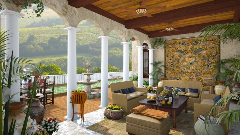 Design 109 Tuscan Villa Patio - Garden  - by Daisy320