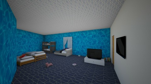 house - Classic - Kids room - by RookiePlaysYT