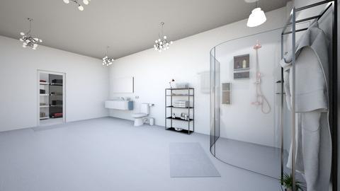 white bathroom - Modern - Bathroom  - by nguyentranynhi