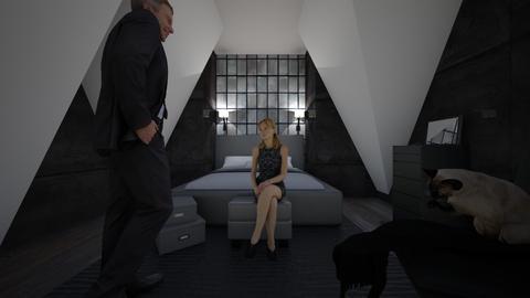 Attic bedroom challenge - Glamour - Bedroom  - by jaxboy2008