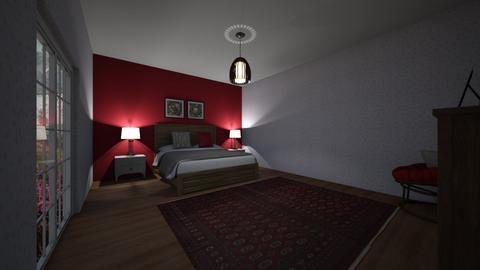 raspberry room - Bedroom  - by ellienails13
