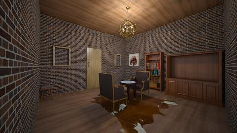 wood cozy forest cabin in - Rustic - Living room  - by jade1111
