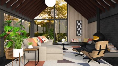 Midcentury Modern Wood - Living room  - by smunro7