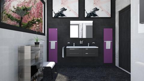Pink and Cats Bathroom1 - Bathroom  - by Amyz625