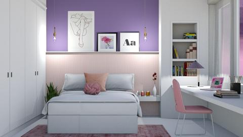 Pink And Purple Bedroom - by neide oliveira