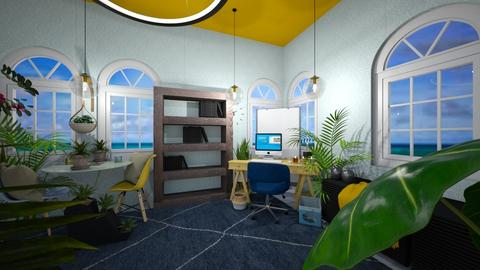Blue Yellow and Green  - Office  - by I_love_my_dog_icecream_and_cookie
