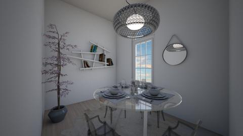 Transparent Dining Space - Dining room  - by katae potatae