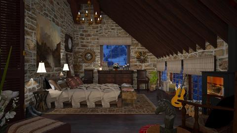 Design 501 Rustic Loft II - Bedroom  - by Daisy320