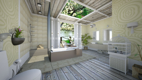 Shibori Inspired - Eclectic - Bathroom  - by Lackew