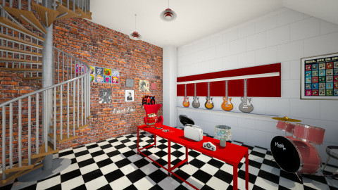 retro music shop - Retro - by INES99