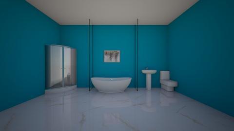 BLUE BATHROOM 1 - Bathroom  - by AATHEDANCER