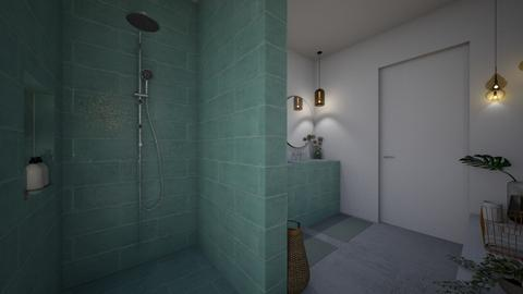 tile and concretebathroom - by StienAerts