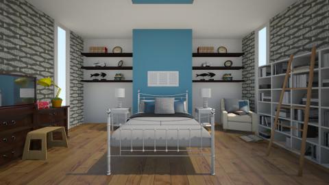 Bedroom Library - Minimal - Bedroom  - by livi rangz