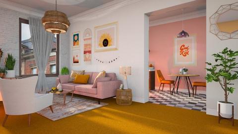 Orange Carpet - Living room  - by smunro7