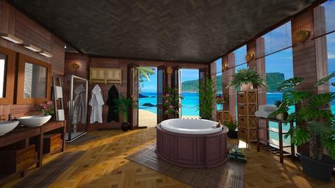 tropical bath - by Christine Keller