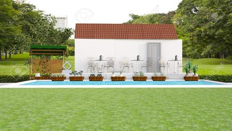 pool house - Garden  - by malithu damsath