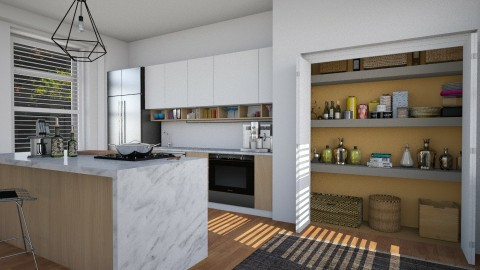 Kitchen With Pantry - Modern - Kitchen  - by katarina_petakovi