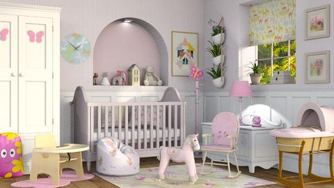 Pink Nursery - Kids room - by Sally Simpson