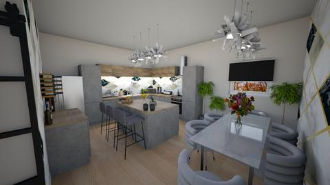 simple modern kitchen - Modern - Kitchen  - by Stavroula Chatzina