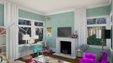 living room / office - Living room  - by skiiergirl315