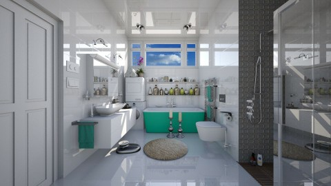 white bathroom  - Modern - Bathroom  - by Ida Dzanovic