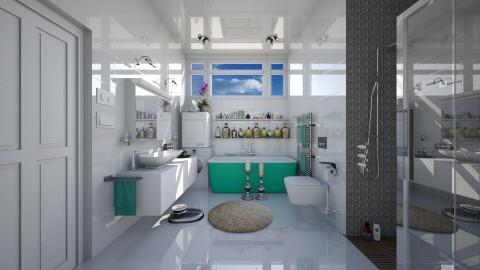 white bathroom  - Modern - Bathroom  - by Ida Dzanovic