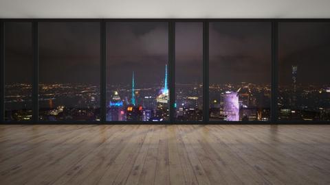 City Overlook - Minimal - Bedroom  - by livai bean