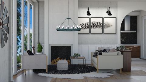 Family Farmhouse - Modern - Living room  - by NEVERQUITDESIGNIT