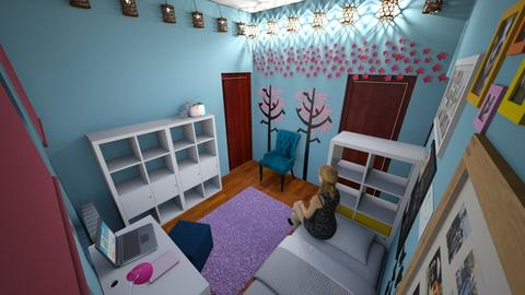 My Room Layout Idea - Feminine - Bedroom  - by mcv123me