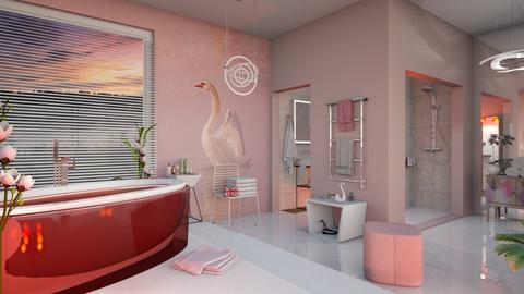 M_ Swan Bathroom - Bathroom  - by milyca8