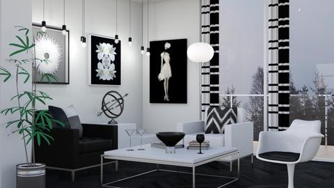 Black and  White Chairs - Dining room  - by Snowbell