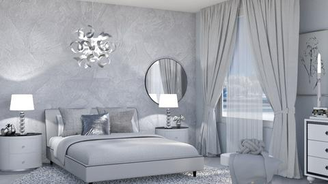 M_ Gray and silver - Bedroom  - by milyca8
