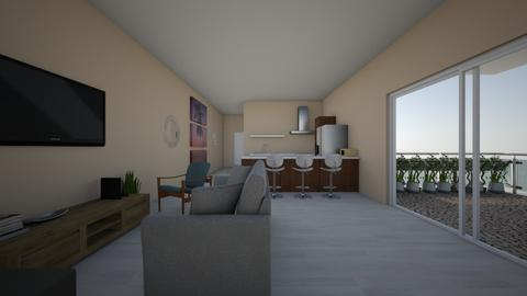 One room apartment - Garden  - by anabemontes24