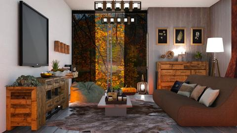 M_ Autumn on the mountain - Rustic - Living room  - by milyca8
