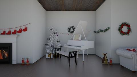 DreamingOfAWhiteChristmas - Living room  - by RoseGrangerWeasly