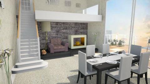 beach home - Living room - by AlbGre