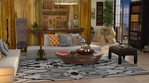 Travel Themed - Rustic - Living room  - by ZsuzsannaCs