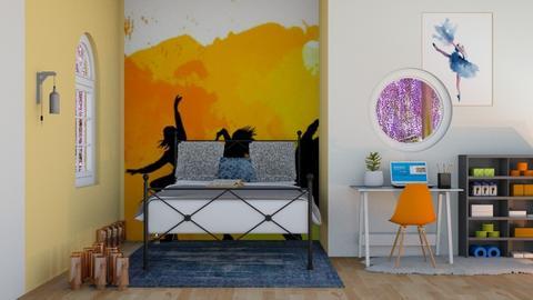 hip hop dance dorm  - Classic - Bedroom  - by aschaper