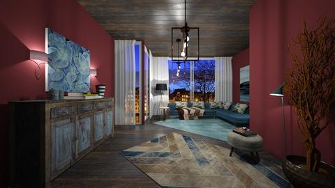 Blue - Living room  - by nanabpf