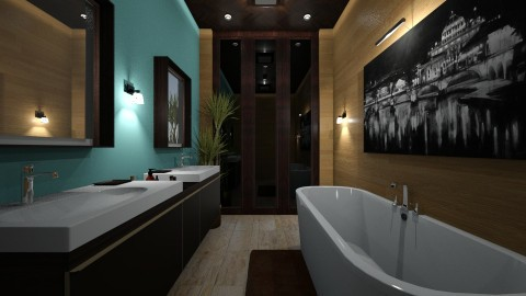5 - Modern - Bathroom  - by somochi91